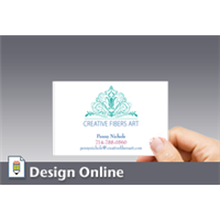 Business Card, Horizontal, Green Ornamentation 2
