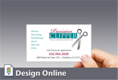 Business card horizontal large logo colourmoves