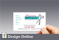 Business Card, Horizontal, Large Logo