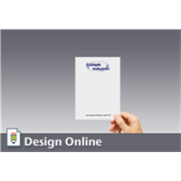 Memo Pads with Logo, Text, 4.25x5.5