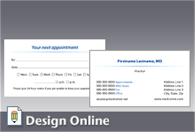 Doctors business and appointment card printing los angeles business card with appointment card back colourmoves