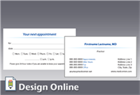 Business Card with Appointment Card Back