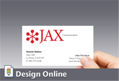 Business card horizontal with logo colourmoves