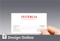 Business Card, Horizontal, with 2 Phones