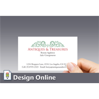 Design business card printing los angeles business card horizontal green ornamentation reheart Gallery