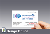 Business Card, Horizontal, with Left Logo