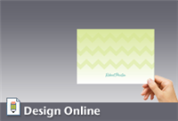Notecard, Lime ZigZag